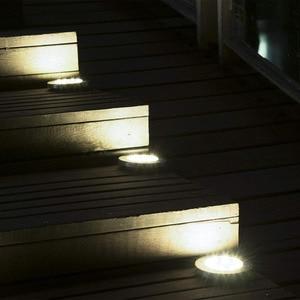 Image 3 - 4 pces 8/12/16 diodo emissor de luz solar ao ar livre à prova dwaterproof água solar gramado luz decorativa solar jardim luz para quintal deck gramado pátio plaza