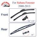 Grupo Borracha de Silicone Frente E Limpadores de Palhetas Do Limpador Traseiro Para Subaru Forester 2008-2013.Windscreen Acessórios Do Carro