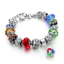 Crystal Beads Added Charm Bracelet