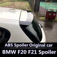 For BMW F20 F21 Spoiler For 2011 2016 BMW 116 118 120 125 135 F20 Spoiler high quality ABS Material Car Color Rear Spoiler