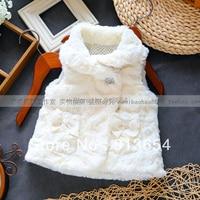 new 2013 Spring autumn children outerwear baby clothing girls waistcoat baby princess vest children all match soft fur coat