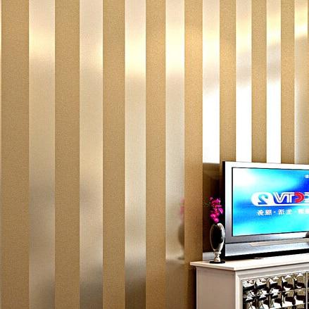 gold and black striped wallpaper - Design Decoration