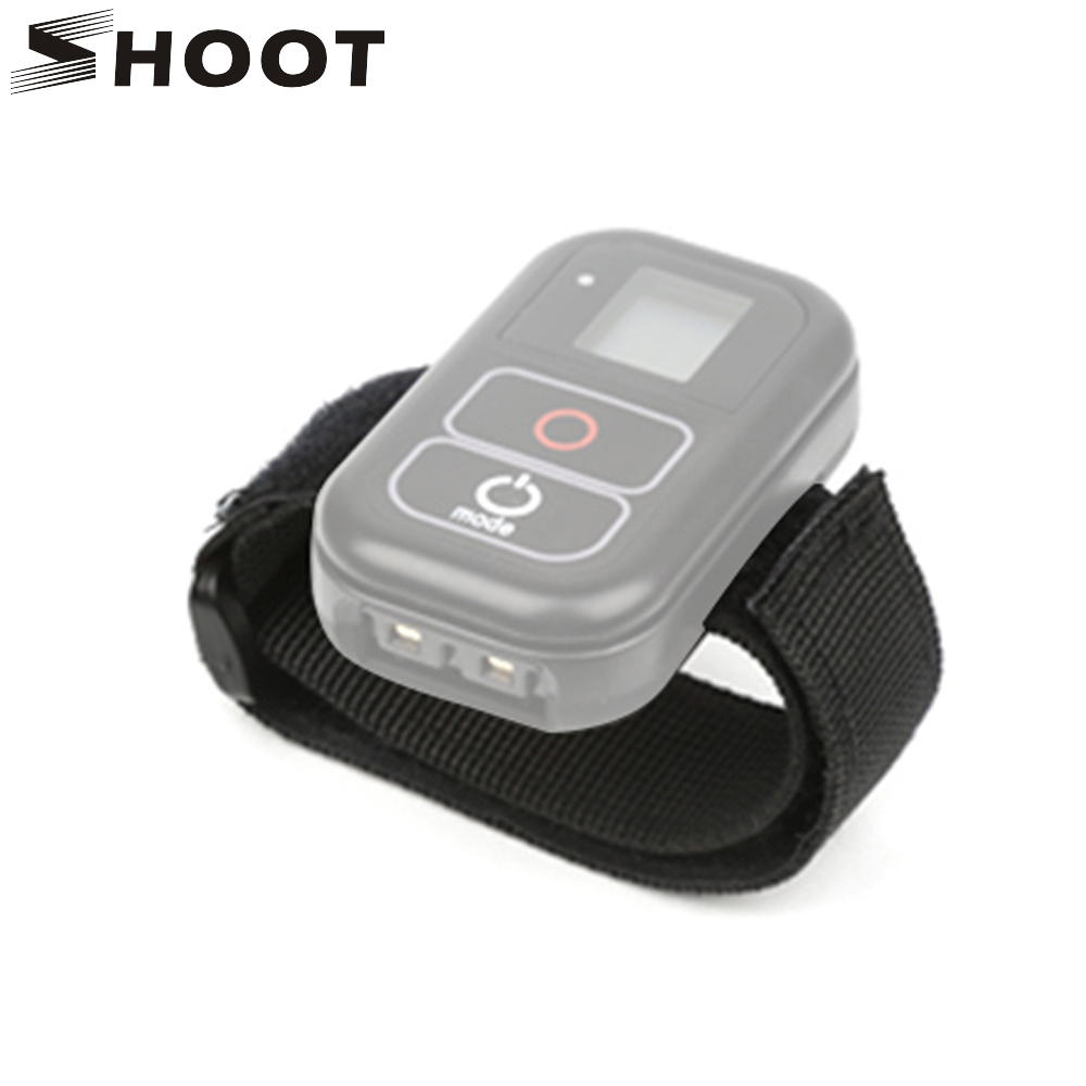 SHOOT WiFi Remote Control Wrist Strap Mount For GoPro Hero 6 5 7 Black Action Camera Remote Hand Band Belt Go Pro Hero Accessory