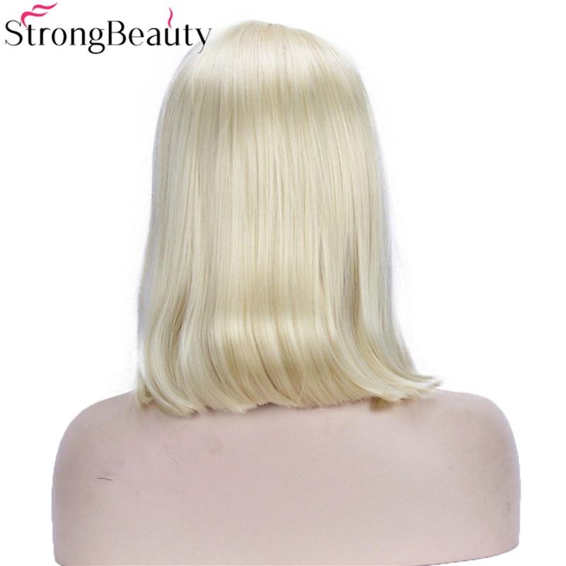 Strongbeauty Σύντομη βαμβακερή περούκα - Συνθετικά μαλλιά - Φωτογραφία 3