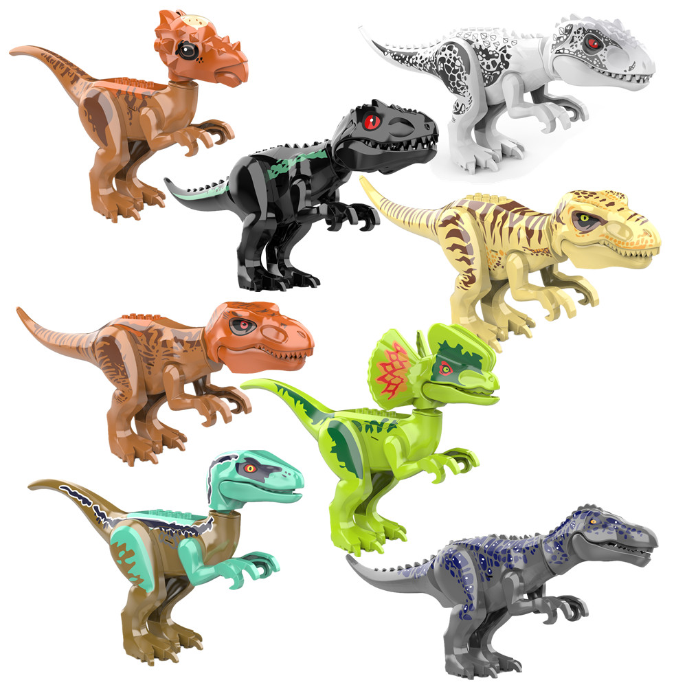 Indominus Rex /& Indoraptor Set Dinosaur Building Blocks Jurassic World Toys Gift