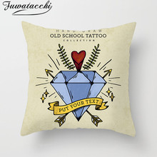 Fuwatacchi Nordic Style Diamond Pattern Cushion Cover Geometric Striped Throw Pillow Good Letter Pillowcases Square