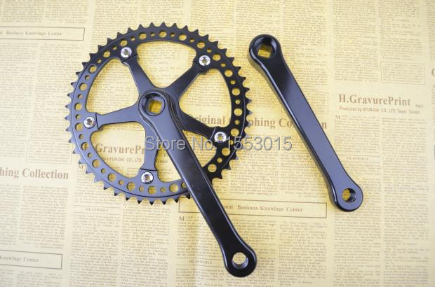 Fixed Gear fixie electroplate aluminium alloy hollow out ultralight Crank set Bike Cycling Track Crankset Cranks 48t BCD130 mtb mountain bike crankset bicycle crank set chain wheel 22 32 42t single speed fixed gear fixie bike crankset