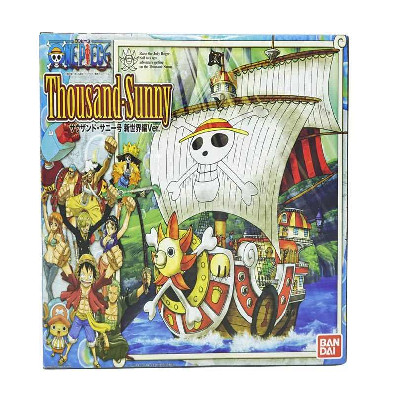 35 centímetros Anime One Piece Thousand Sunny & Meryl Barco Navio Pirata Figura PVC Brinquedos Action Figure Collectible Modelo Toy presentes WX151
