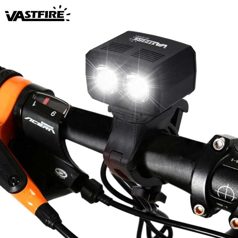 5000lm USB Rechargeable Bike Lamp 2x XM-L T6 Front Handlebar Bike Light Built-in Battery 5 Modes Headlight