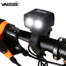 5000lm USB Rechargeable Bike Lamp 2x XM-L T6 Front Handlebar Light Built-in Battery 5 Modes Headlight