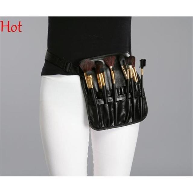 Professional Cosmetic Bags Makeup Brush Case Leather Bag Artist Belt Strap  Protable Make Up Bag Holder Case Black Waist SV011174 c9a040fd5237b