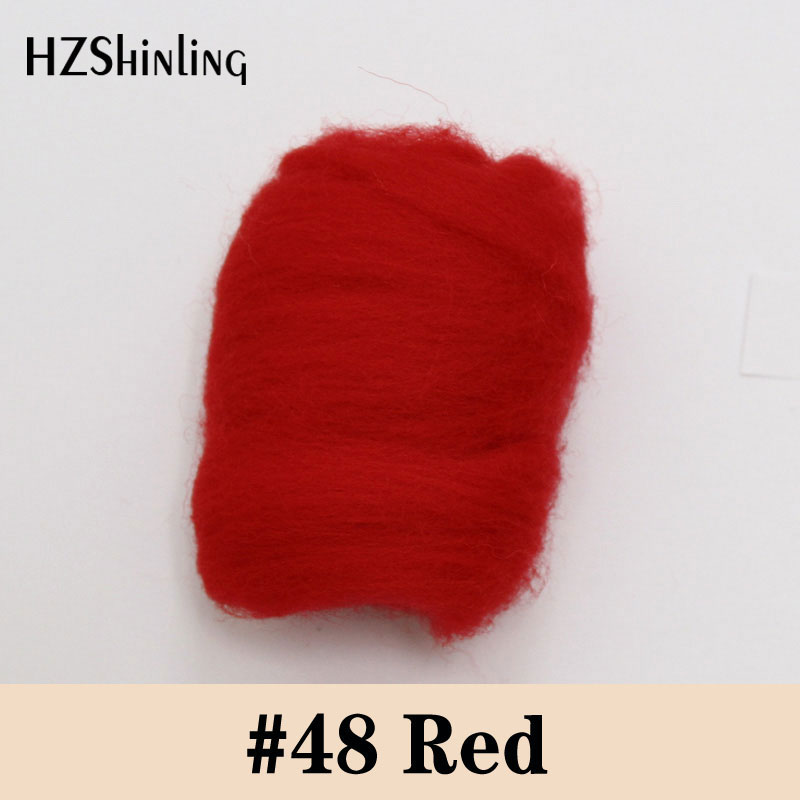 5 G Super Fast Felting Short Fiber Wool Perfect In Needle Felt And Wet Felt Red Wool Material For Doll Handcarft