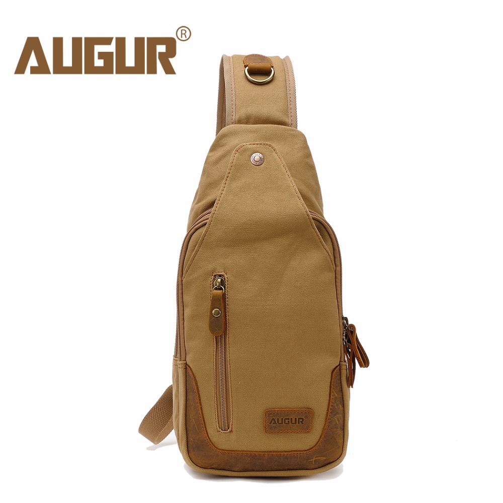 AUGUR Casual Canvas Men Chest Pack Bag For Men Work Sling Shoulder Bags Male Travel Crossbody Bag цена