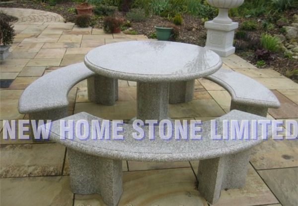 Cool Natural Granite Stone Round Dining Table Curved Stone Garden Gmtry Best Dining Table And Chair Ideas Images Gmtryco