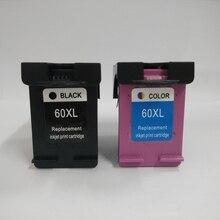Vilaxh 2pk 60xl compatible for hp 60 ink cartridge replace Deskjet D2530 D2545 D2560 D2563 F2420 F4288 F4292 printer