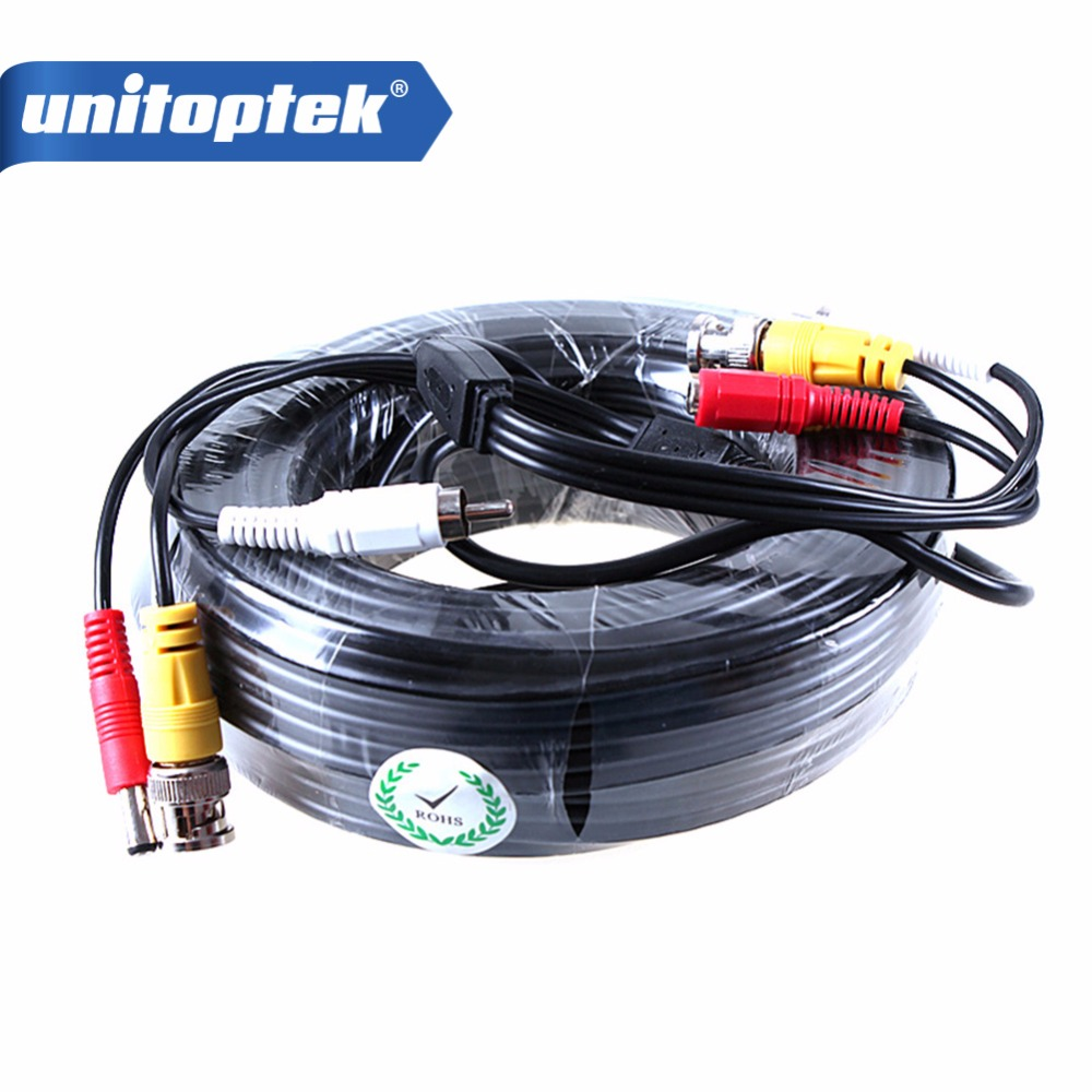 30M 3 IN 1 BNC POWER VIDEO AUDIO Camera CABLE Output Cable For CCTV Camera System misecu bnc cable 18 3 meters power video plug and play cable for cctv camera system