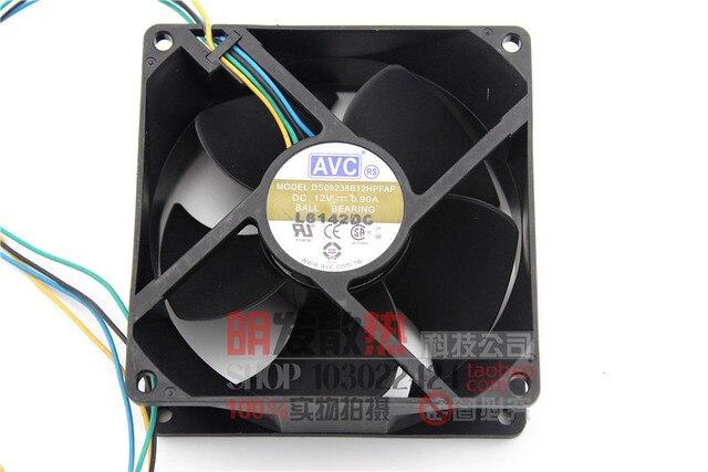 Original 12 V 0.90A 9 CM DS09238B12FAF 90384 hilos PWM regulador de velocidad del ventilador