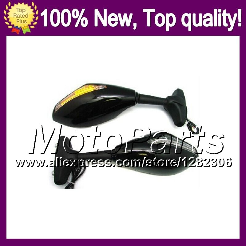 2X Black Turn Signal Mirrors For SUZUKI GSXR750 SRAD 96 00 GSXR 750 GSX R750 750