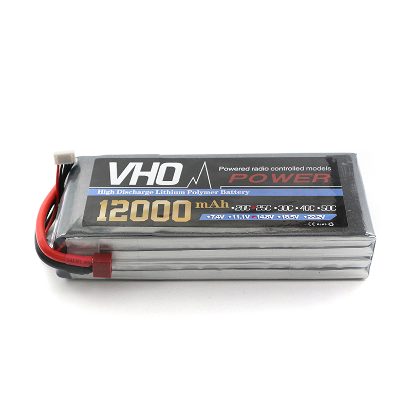 VHO lipo battery 14.8v 12000mAh 25C 4s RC TO XT60/T/XT90/EC5 airplane cell factory-outlet goods of consistent quality mos rc airplane lipo battery 3s 11 1v 5200mah 40c for quadrotor rc boat rc car