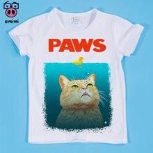 04bdf136 Ready Stock,Size(90-160cm) Children's Cat Swim Cute Design Print T-shirt  Kid Cartoon Shirt Boy and Girl Funny Tee Shirt Baby Top