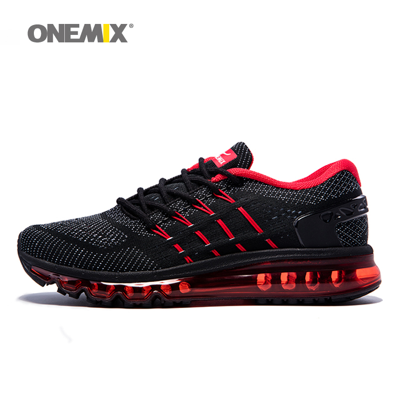 Onemix Sport Sko menn Herre nye løpesko for mannlige Unike Shoe Tongue Design Pustende mannlige Athletic Outdoor Sneakers