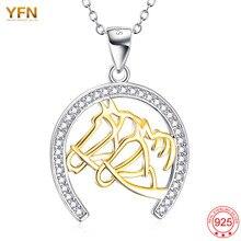 YFN Nuevo 925 Joyería de Plata Esterlina Para Las Mujeres Herradura Pendiente Animal Caliente carboneros bijoux femme feminino colar Collar