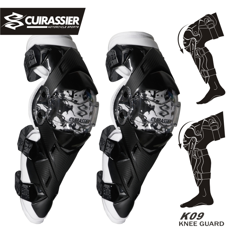 Motorcykelskydd Kneepad Cuirassier Knä Elbow Pads Protector Utrustning Motocross Brace Guards Racing Elbowpad Protection