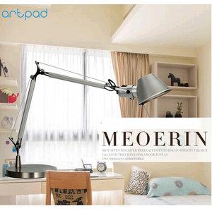 Image 2 - Artpad Relatiegeschenk Fashion Design Led Werk Lamp Voor Desktop Aluminium E27 Flexibele Verstelbare Oogzorg Studie Tafellamp Zilver