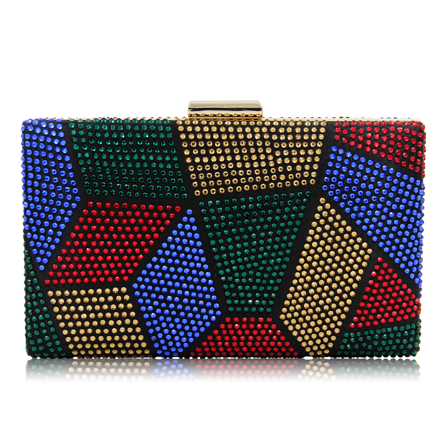 Clutches Women Collection Stitching Diamond Women Evening Clutch Bags Ladies Day Clutches Full Diamond Multi color