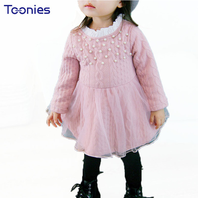 75c2221ca 2017 Baby Girls Thicker Princess Dress Winter Children s Wear Infant ...