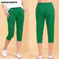 Cotton Linen Capri Pants For Woman 2017 Summer Casual Harem Pants Women S Clothing Plus Size