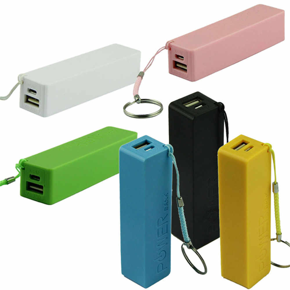 Portable Power Bank 18650 External Backup Battery Charger USB Rechargeable independent charging battery charger Key Chain