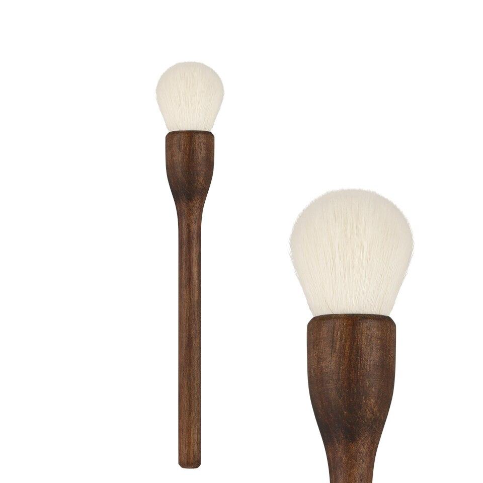 BEILI de Pierres Précieuses de Haute qualité blanc De Chèvre cheveux Fondation noyer Maquillage Brosses
