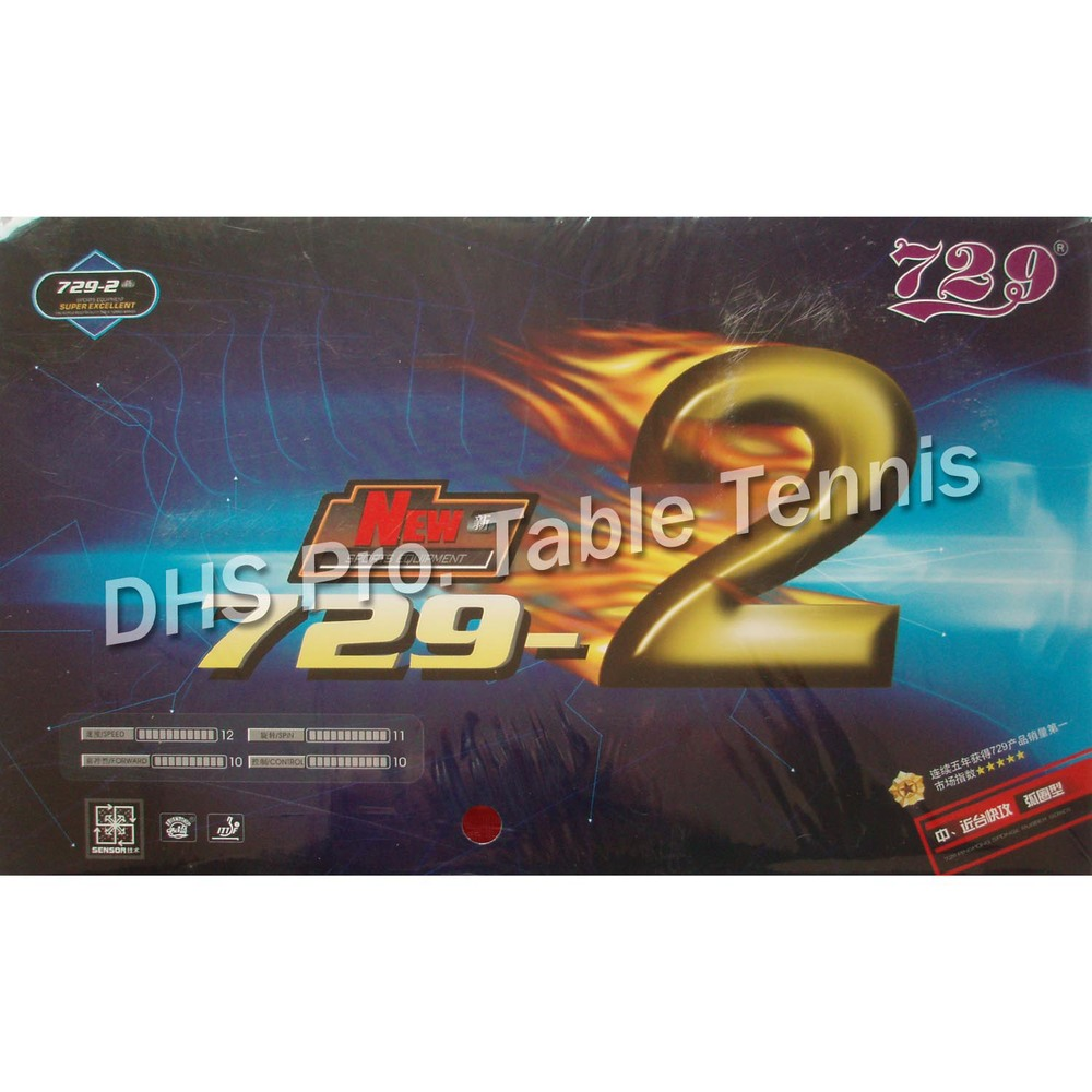 RITC 729 Friendship 729-2  Pips-in Table Tennis / Pingpong Rubber With Sponge