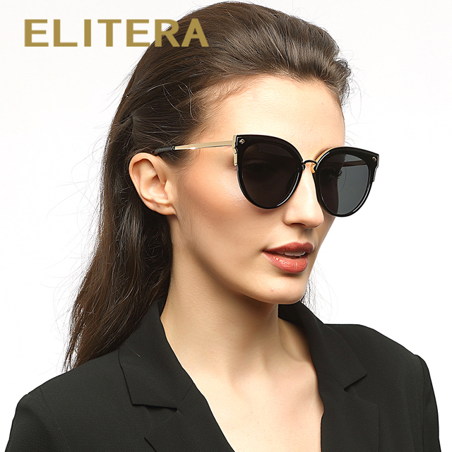 f481cbe5f3 ELITERA Brand Design Classic Polarized Sunglasses Women Cat Eye Alloy Frame  HD Lens Sun Glasses Eyewear Accessories