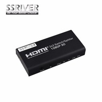 SSRIVER HDMI 2X2 Switch Splitter Support 1080P 3D Remote Control 2 Input 2 Output HDMI Switch