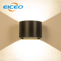 (EICEO) LED Wall Lamp Square Aluminum Corridor Balcony Outdoor Waterproof Outdoor Wall Lamps Lights Up And Down Double Glow