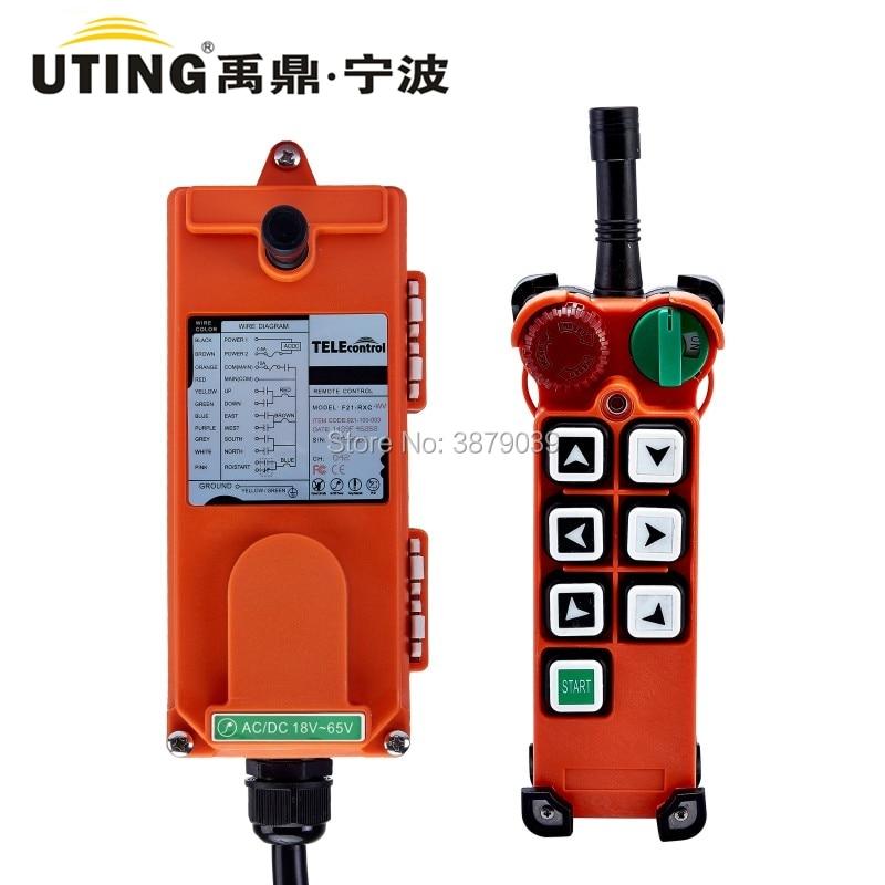 UTING TELEcontrol CE FCC F21 E2 Industriële Draadloze Radio Single Speed Afstandsbediening (1 Zender + 1 Ontvanger) voor Kraan-in Afstandsbedieningen van Consumentenelektronica op