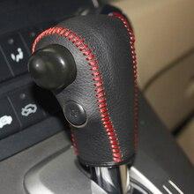 цена Free Shipping High Quality Cowhide Top Layer Leather Automatic Gear Shift Collars Gear Cover For Honda CRV CR-V онлайн в 2017 году