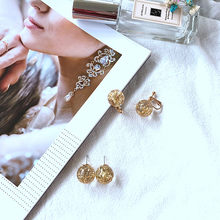 jewelry spring summer gold geometric circular all-match resin simple stud earrings(China)