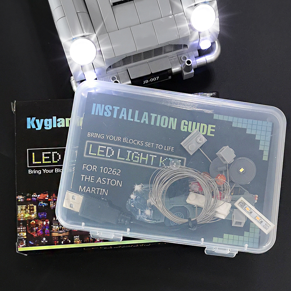 Led Light Kit For Lego The James Bond Aston Martin DB5  Compatible With 10262 (NOT Include The Model)