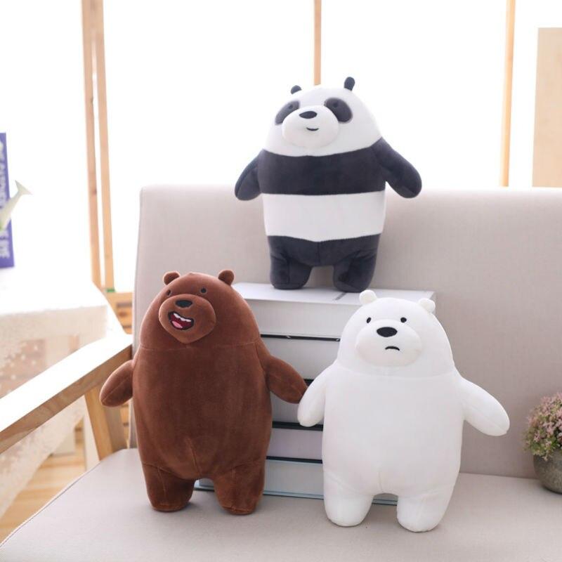 28 Cm  Plush Toys We Bare Bears  Stuffed Animal Grizzly Gray Polar Bear Panda Plush Toys For Children & Fans Gift  Drop Ship