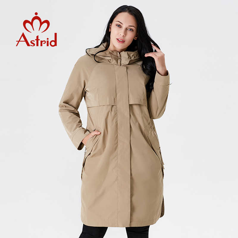 2019 Trench Coat Spring And Autumn Women Causal coat Long Sleeve With Hood Solid color female moda muje High Quality new AS-9046