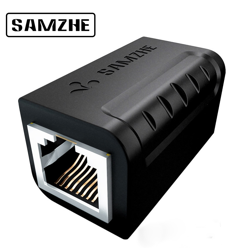 SAMZHE Ethernet Cable Adapter 8P8C RJ45 Lan Cable Extension Connector for Internet Connection Female to Female in Computer Cables Connectors from Computer Office