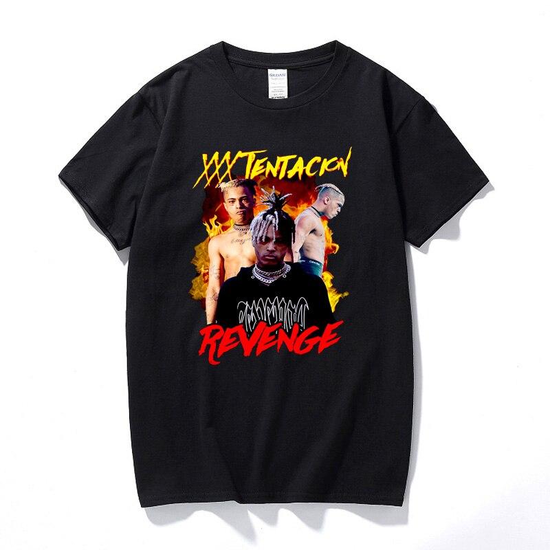 Xxxtentacion Revenge   T     shirt   New Summer Fashion Hip hop   Shirt   Camisetas Hombre Streetwear Top Cotton Short Sleeve   T  -  shirt
