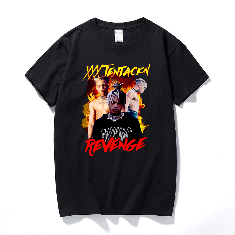 Xxxtentacion Revenge T shirt New Summer Fashion Hip hop Shirt Camisetas Hombre Streetwear Top Cotton Short Sleeve T-shirt