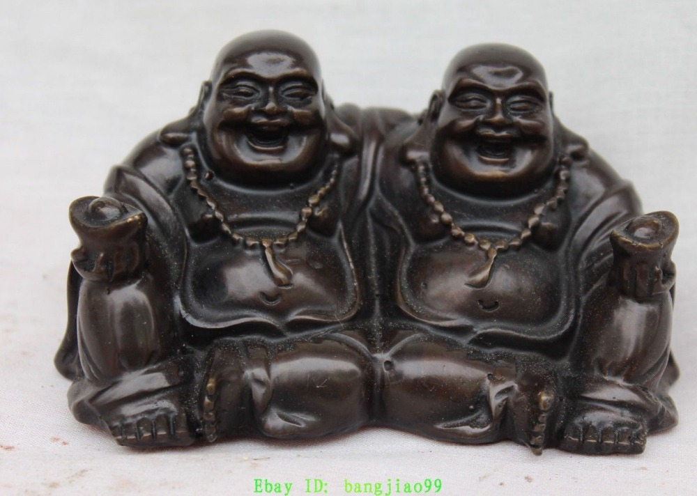 Collectibles Superb Copper Double Smile and laugh Maitreya Buddha Wealth BullioCollectibles Superb Copper Double Smile and laugh Maitreya Buddha Wealth Bullio