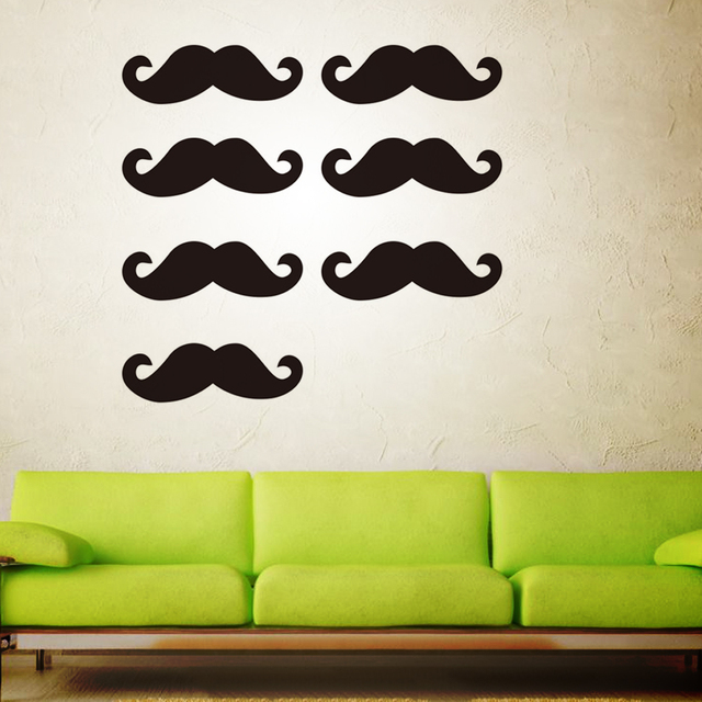 Black Beard Wall Stickers Mustache Removable Decal Home Decoration For Kids  Bedroom Car Party Cup Clothes