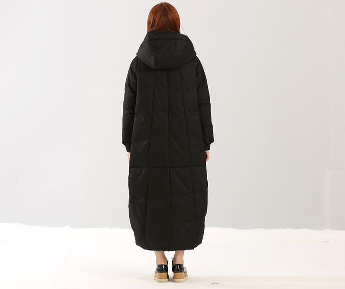 Vers D'hiver Down Bas 10xl X À S Épais Grande Le Manteau Cour Long long Taille Capuchon xgO0qw8ac