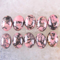 Free Shipping Fashion Jewelry 13x18MM Natural Pink wiht Black Rhodonite CAB Cabochon 10Pcs K1613